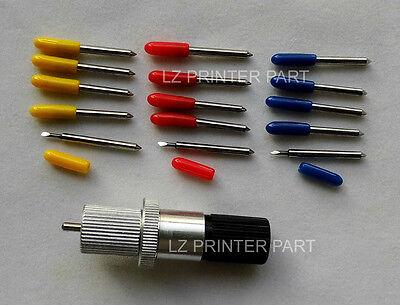 15pcs 304560 Degrees Vinyl Cutter Plotter Roland Blades Roland Blade Holder