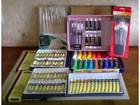 Comlete artists' kit - everything from paper and paints to pencils and easel.