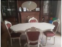 Stunning Italian Carved Table & 4 Louis/Rococco Chairs