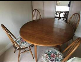 Ercol drop leaf table and chairs