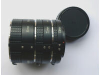 JESSOP AUTO EXTENSION TUBE SET FOR NIKON AI.13mm,21mm & 31mm. MADE IN JAPAN