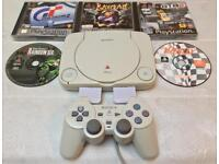SONY PLAYSTATION 1 SLIM CONSOLE SCPH-102 PS1 PSONE RETRO GTA 2 GRAND THEFT AUTO GT2 RAYMAN VRALLY
