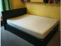 Storage Ottoman Double Bed Frame and Double Mattress