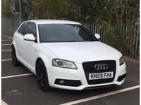 Audi A3 2.0 L TDI Black Edition S Line white 59 reg