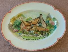JOHNSON BROTHERS serving platter - Hand Painted and signed by Wendy Smith
