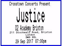 4 x tickets Justice - O2 Academy Brixton - London - 29 September band gig concert 2017