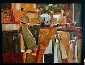 Framed Tremler Oil Painting on Canvas RRP£100