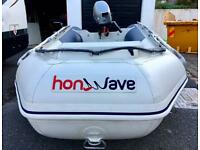 HONWAVE 2.7M INFLATABLE DINGHY 6HP MARINER OUTBOARD ENGINE