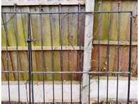 Wrought Iron Driveway Gates and Access Gate with post
