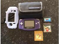 Nintendo Gameboy Advance - Console with 2 cases and 3 Games
