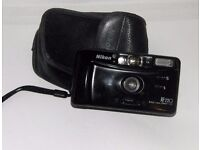 NIKON af220 compact 35mm film camera - wide angle lens.