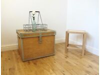 Vintage Pine Storage Chest / Coffee Table