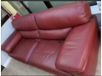 Free Red lether sofa