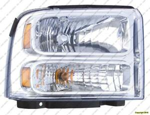 Head Lamp Passenger Side High Quality Ford F250 F350 F450 F550 2005-2007
