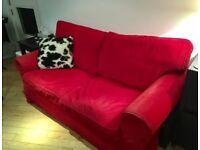 2 Seater Red Ikea Ektorp Sofa