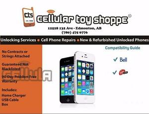 iPhone 4 16GB locked to Bell/Virgin or Telus/Koodo or Rogers/Chat-r (90 Day Warranty)  - LIKE NEW
