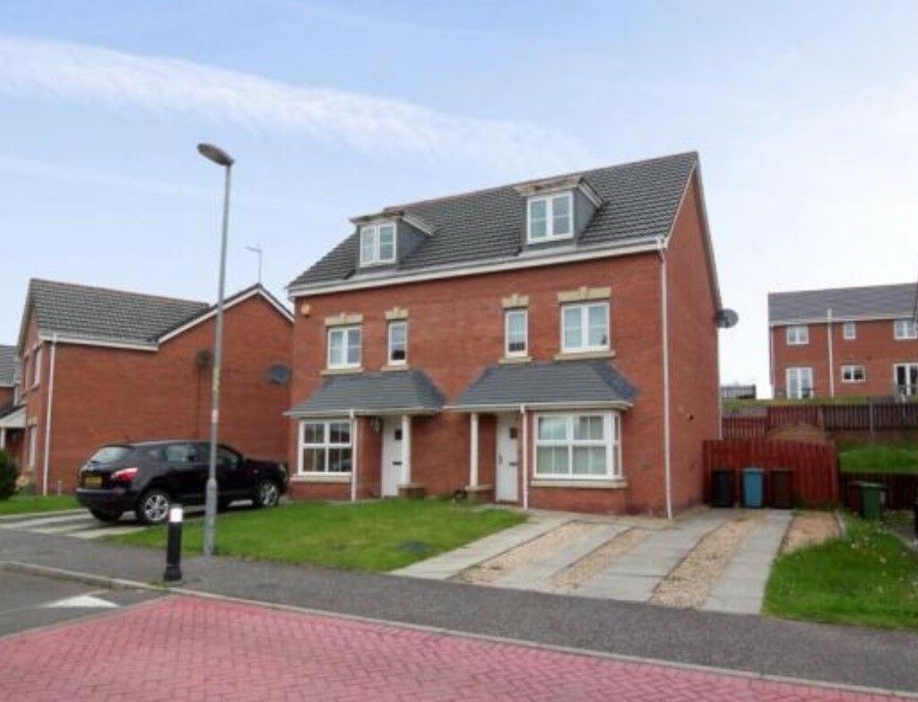 4 BEDROOM SEMI-DETACHED TOWN HOUSE for Rent SMITHSTONE, CUMBERNAULD