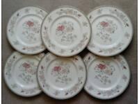 Royal Doulton Minton Fine Bone China 6 Dinner Plates Jasmine Design