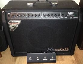RANDALL G75 SERIES 2 GUITAR AMP AS NEW, NEVER GIGGED