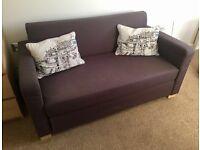 Compact Dark grey ikea two seater pull-out sofa ULLVI