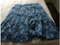 BLUE LEAF PATTERNED SKIRT (From Classic design of Debenhams) Size XL BRAND NEW