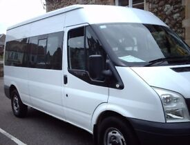 Ford Transit 100 15 seat RWD Minibus 350 White 57 Plate For Sale