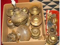 Job Lot of Oil Lamp Spares - Fonts, Burners, wick etc