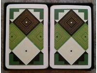 Dual Pack Of Kem 'Decor' Playing Cards (plastic case)