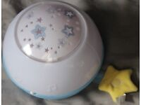 Chicco Goodnight Stars Night Light Projector that can play music - Good Condition