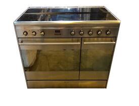 Smeg SUK92CMX9 90cm Dual Cavity Ceramic Range Cooker in Stainless Steel
