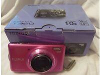 BARELY USED BOXED FUJI FUJIFILM FINEPIX T360 DIGITAL CAMERA 14MP 10X OPTICAL ZOOM 3 INCH SCREEN