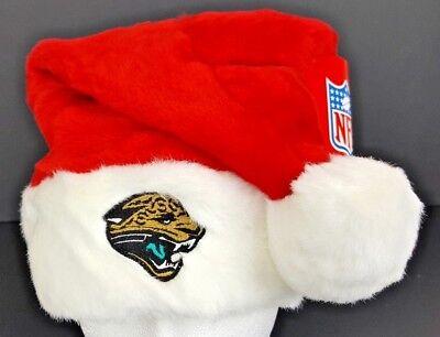 Jacksonville Jaguars Plush Santa Hat Red w/ Embroidered Logo NFL Licensed NWT