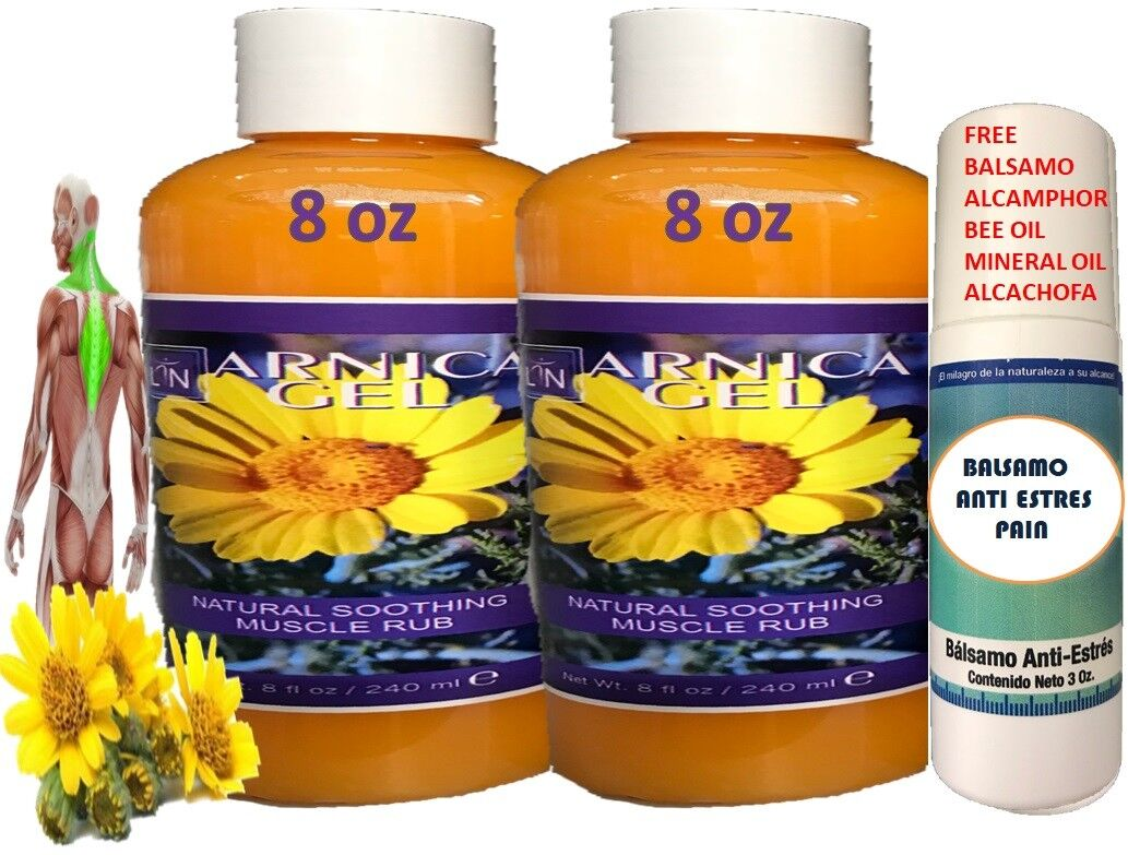 ARNICA MONTANA GEL CREAM 8Oz PAIN RELIEF BRUISES MUSCLE ACHES NATURAL REMEDIES 2