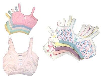 4pk PreTeen Girls Tween Beginner Training Bras 100% Cotton UnderShirts Size 8~16 - Tween Girls