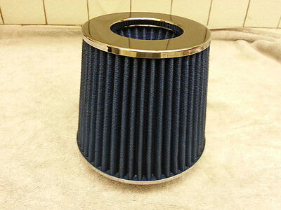 504bceee0d5 NEW RACING AIR FILTER WASHABLE CHROME BLUE 3