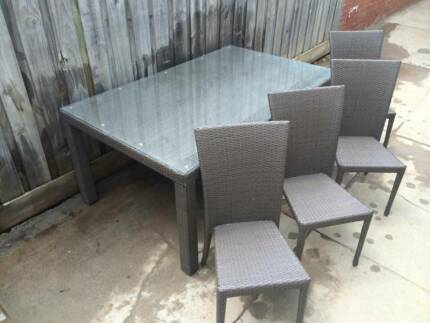 aluminium glass table chairs used dining chairs gumtree