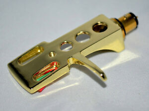 GOLD PLATED HEADSHELL CARTRIDGE STYLUS MOUNT TECHNICS 1200 1210 MK2 MK3 MK5 MK5G