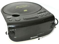Sony Dream Machine ICF-CD815 AM/FM Stereo CD Player Clock Radio Dual Alarm Works