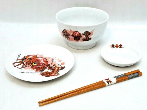 Star Wars Celebration 2015 Admiral Ackbar Sushi Set w Bowls,Plate,Chopsticks,Mat