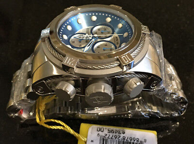 @New Invicta Reserve 52mm Bolt Zeus Quartz Chronograph 21803 Stainless Bracelet