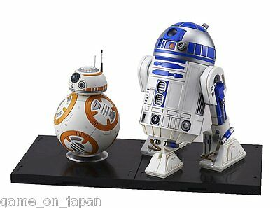 Star Wars Bb 8   R2 D2 1 12 Scale Plastic Model Kit Figure The Force Awakens