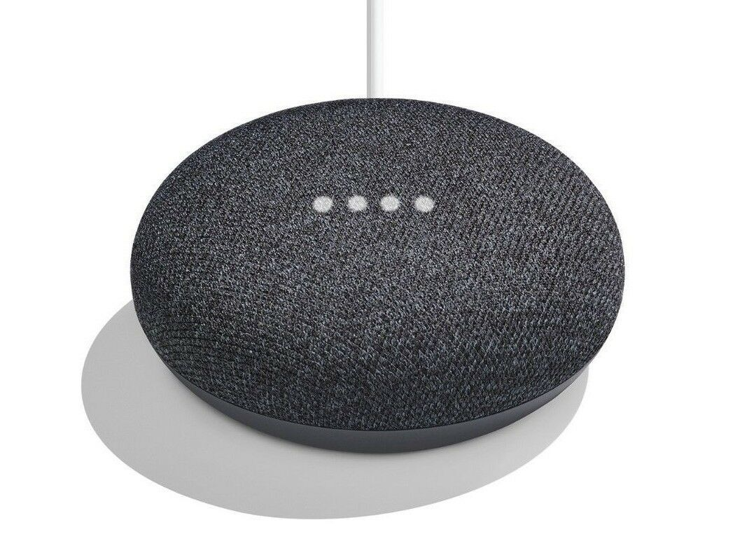 NEW Google Home Mini Smart Small Speaker Charcoal Voice Activated w/ Chromecast
