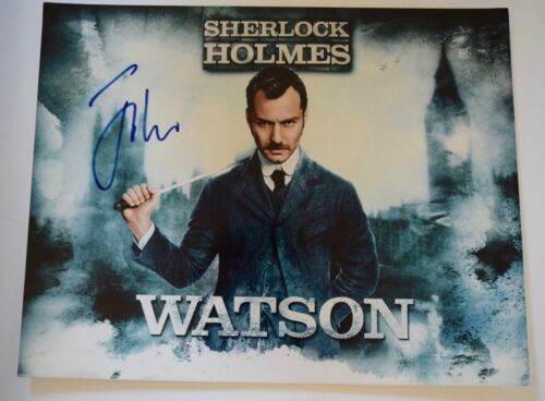 Jude Law Signed Autographed 11x14 Photo SHERLOCK HOLMES COA VD