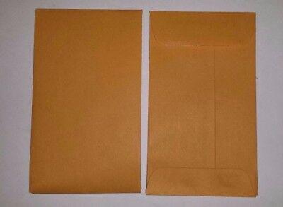 102550100 Pk Of 3 Coin Envelopes 2.25 X 4.25 Brown Kraft Free Shipping