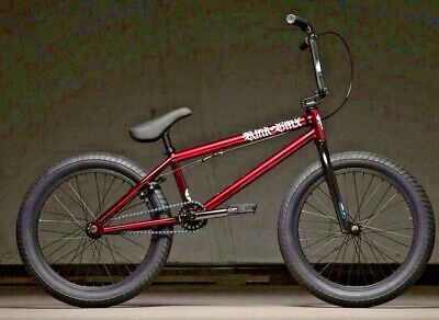 """2020 Kink Curb (Gloss Smoked Red) 20"""" Complete BMX Bicycle 20"""" Top Tube"""