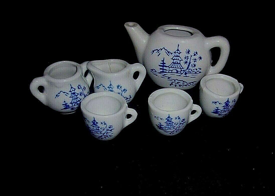 VINTAGE 6 PC MINI Tea Set Porcelain For Doll House. MADE IN JAPAN - $12.00