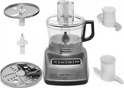 New Kitchenaid 7 Cup Food Processor Exactslice System Thickthin Slice Kfp0722cu