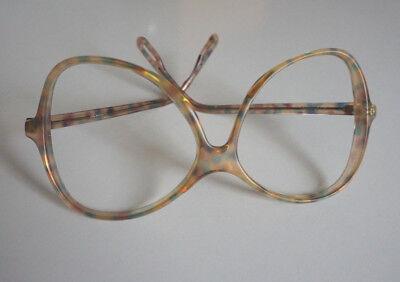 Vintage Silhouette Brillenfassung 70er Jahre Mod.59 180 unisex Hippie Tupfen