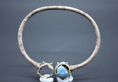 Viking period silver annular brooch with glass paste insert C. 10th century AD