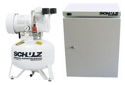 Schulz Dental Medical Air Compressor - Oil Free - 1hp Cabinet